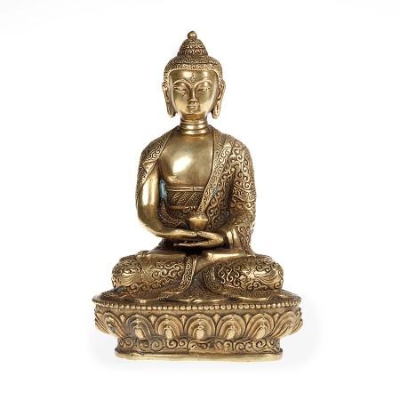 "Buddha Bronze ""Gesture of Meditation with bowl"""