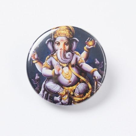 "Button ""Ganesha"" - Schwarz / Lila"