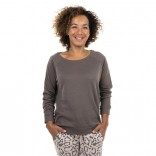 Sweatshirt in Taupe mit Cashmere von Juvia