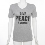 "Fairtrade Biobaumwolle Shirt ""Give Peace a Chance"""