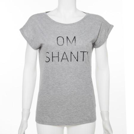 "Shirt Fairtrade aus Bioaumwolle ""OM SHANTI"" grau"