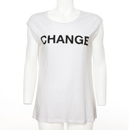 Weisses Shirt CHANGE schwarz