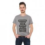 Graues Herren-Shirt: Meditation