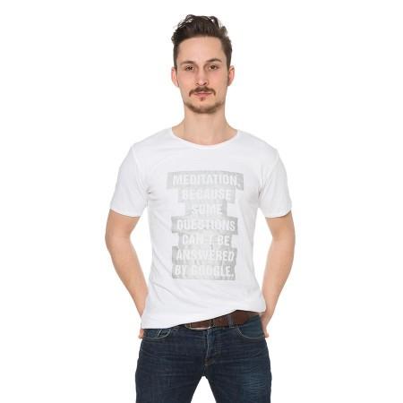 Weiss Herren-Shirt: Meditation