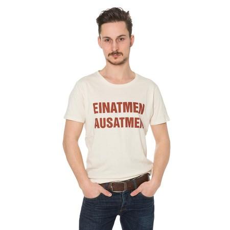 Shirt Einatmen Ausatmen creme