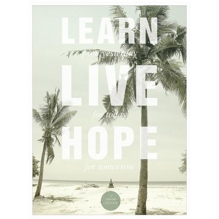 "Poster ""learn live hope Fine Art Print"