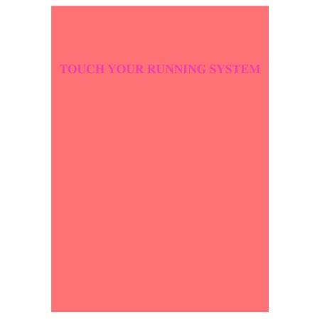 Postkarte Touch your running system