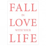 Postkarte Fall in love