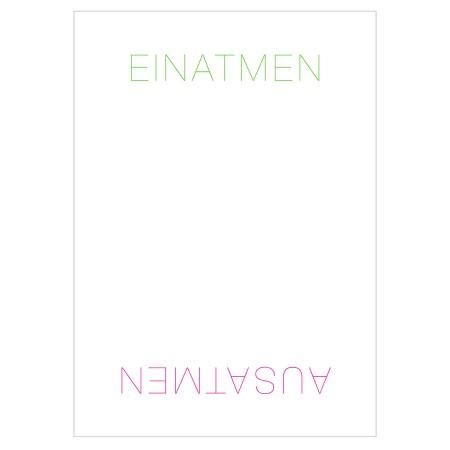 Postkarte Einatmen - Ausatmen