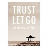 "Postkarte ""Trust Let Go"""