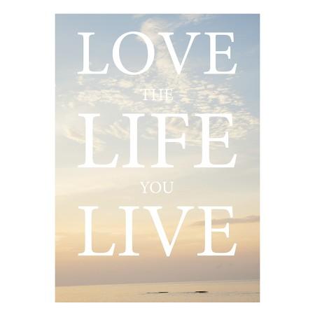"""Postkarte """"Love Life Live"""""""