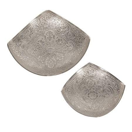 2-teiliges Räucherschalen Set Silber