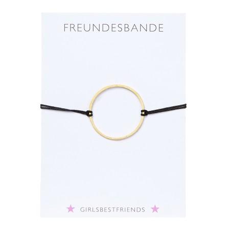 Freundschaftsarmband girlsbestfriends Gold / Schwarz