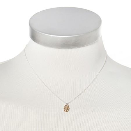 Silberkette mit goldener Hand der Fatima von Chaingang