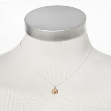 Silberkette mit goldener Mutter Gottes von Chaingang