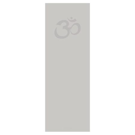 Yogamatte hellgrau mit Om bedruckt