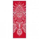 Yogamatte rot mit ausgefallenem Muster bedruckt