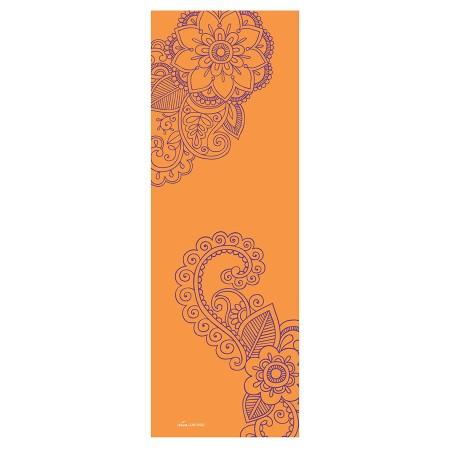 Bedruckte Deva Lounge-Yogamatte mit Ornament orange/lila