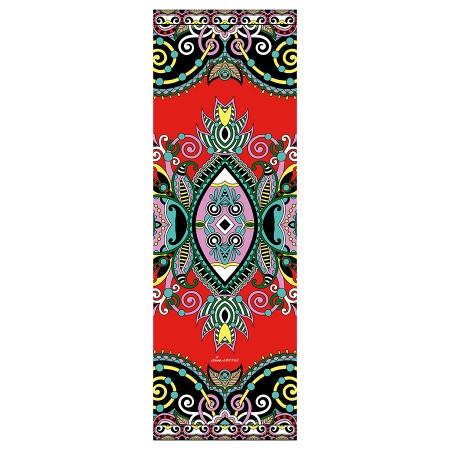 Yogamatte rot mit schönem  Muster bedruckt