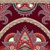 Yogamatte bordeaux mit ausgefallenem Muster bedruckt