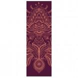 Yogamatte lila mit ausgefallenem Muster bedruckt